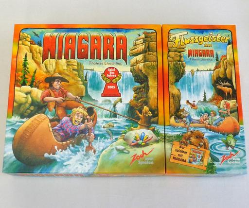 【中古】ボードゲーム [日本語訳無し] ナイアガラ + ナイアガラ 拡張セット ?川の精? (Niagara + Flussgeister am Niagara)
