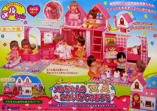 【中古】おもちゃ [破損品] メルちゃんの2階建てのおうち 「メルちゃん」