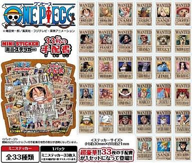 【中古】シール・ステッカー(キャラクター) 【 パック 】ONE PIECE ミニステッカー ?33枚の手配書  「ONE PIECE (ワンピース)」
