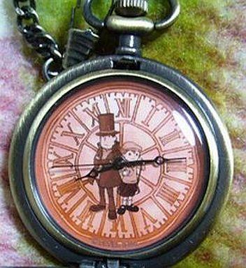 【中古】腕時計・懐中時計(キャラクター) レイトン教授の懐中時計 レイトン&ルーク