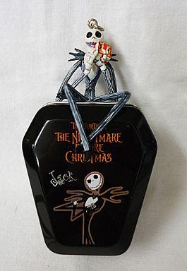 【中古】キーホルダー・マスコット(キャラクター) ジャック・スケリントン 「ティム・バートンのナイトメアー・ビフォア・クリスマス ブリキ棺」