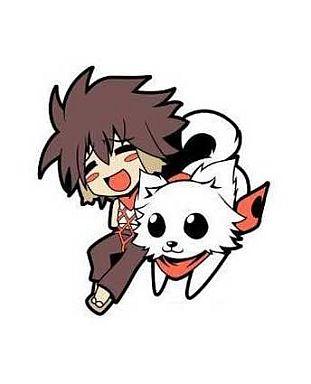 【中古】ストラップ(キャラクター) 犬神桃央 ラバーストラップ 「貧乏神が!」