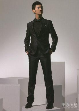 【中古】小物(男性) チャンミン(東方神起)/衣装:黒 フォトカード 2009年