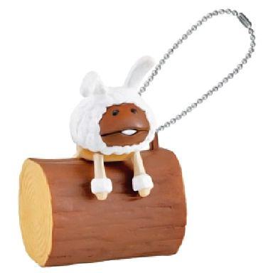【中古】キーホルダー・マスコット(キャラクター) 3.白ウサギなめこ 「おさわり探偵なめこ栽培キット んふんふなめこスマホチャーム」