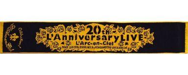【中古】タオル・手ぬぐい(男性) L'Arc?en?Ciel(ブラック×オレンジ) マフラータオル 「L'Arc?en?Ciel 20th L'Anniversary LIVE」