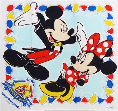 ミッキー&ミニー ハンカチ 「東京ディズニーランド 15th ANNIVERSARY」