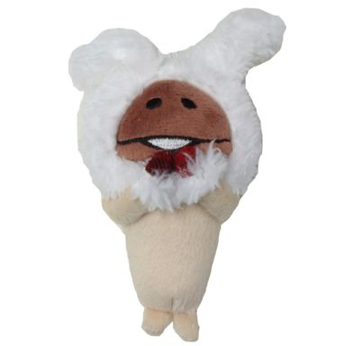 【中古】キーホルダー・マスコット(キャラクター) 白ウサギなめこ あったかマスコット 「おさわり探偵なめこ栽培キット」