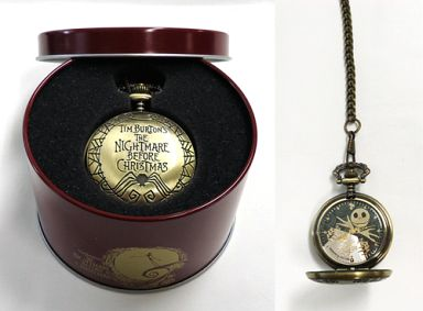 【中古】腕時計・懐中時計(キャラクター) A.ジャック・スケリントン(ゴールド) 懐中時計Ver.4 「ザ・ナイトメアー・ビフォア・クリスマス」