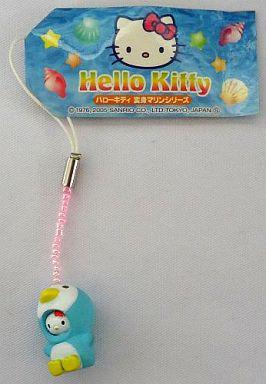 海の仲間キティ(ペンギン) 変身プチストラップ 「ハローキティ 変身マリンシリーズ」