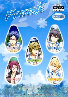 【中古】ブックカバー・しおり(キャラクター) シート4(ジャージ) PVCクリップブックマーカー 「Free!」