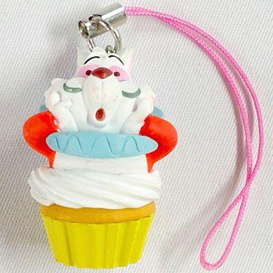 【中古】キーホルダー・マスコット(キャラクター) 白ウサギ 「ふしぎの国のアリス カップケーキマスコット」
