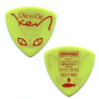 【中古】小物(男性) ken(L'Arc?en?Ciel) ギターピック(猫/グリーン)