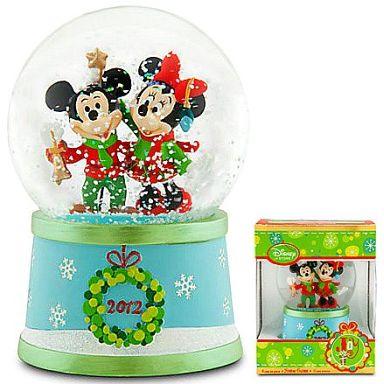 【中古】小物(キャラクター) ミッキーマウス&ミニーマウス(2012年クリスマス) スノーグローブ 「ディズニー」 ディズニーストア限定