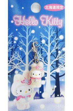 【中古】キーホルダー・マスコット(キャラクター) キティ(雪うさぎ) ファスナーマスコット 「ハローキティ」 北海道限定