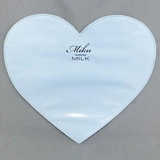 【中古】バッグ(キャラクター) ハートクラッチバッグ 「一番くじ 初音ミク ブランドコラボレーション MIKU wears MILK」 ダブルチャンスキャンペーン