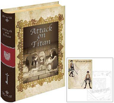 "A pattern (Ellen & Mikasa & Armin) BOOK type accessory (with memo) ""Advance giant"""