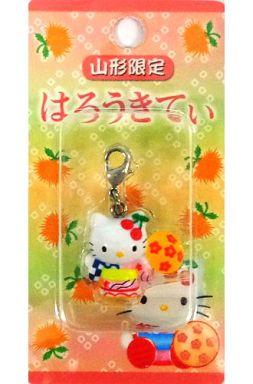【中古】キーホルダー・マスコット(キャラクター) キティ(花笠まつり) ファスナーマスコット 「ハローキティ」 山形限定