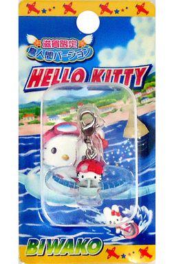 【中古】キーホルダー・マスコット(キャラクター) キティ 鳥人間バージョン ファスナーマスコット 「ハローキティ」 滋賀限定