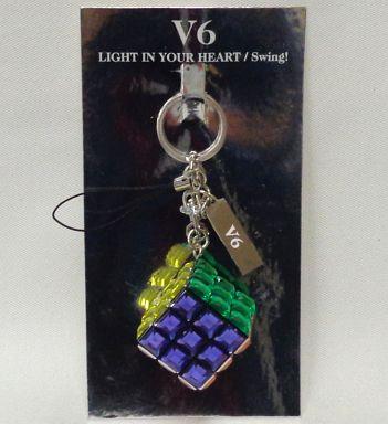 【中古】ストラップ(男性) V6 パズルキューブストラップ 「LIGHT IN YOUR HEART/Swing!」