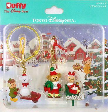 【中古】ストラップ(キャラクター) ダッフィーのクリスマス ストラップ+イヤホンジャックセット 「クリスマス・ウィッシュ2014」 東京ディズニーシー限定