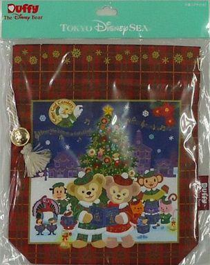 【中古】バッグ(キャラクター) ダッフィー&シェリーメイ 巾着(マチ付き) 「クリスマス・ウィッシュ2012」 東京ディズニーシー限定