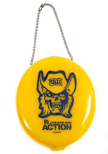 """【中古】財布・パスケース(男性) B'z コインケース(イエロー) 「B'z LIVE-GYM 2008 """"ACTION""""」 ガチャガチャ景品"""