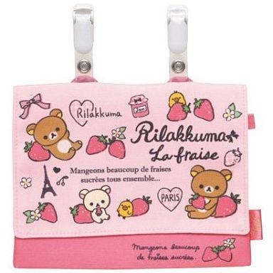 【新品】バッグ(キャラクター) リラックマ&コリラックマ&キイロイトリ(ピンク) ポケットポーチ 「リラックマ」