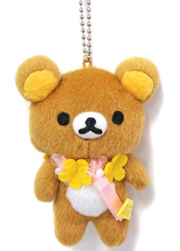 【中古】キーホルダー・マスコット(キャラクター) リラックマ(立ち) お花リボンマスコットキーチェーン 「リラックマ」