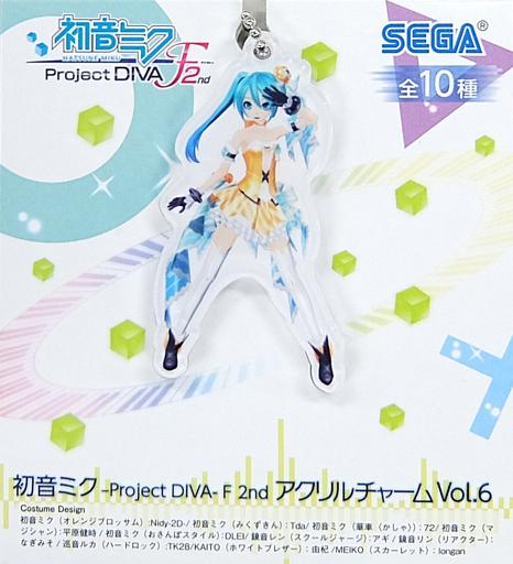 【中古】キーホルダー・マスコット(キャラクター) 初音ミク(オレンジブロッサム) アクリルチャームVol.6 「初音ミク -Project DIVA-F 2nd」