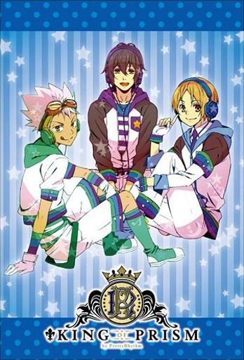 【中古】小物(キャラクター) Over The Rainbow(ブルー) スクエアマグネット 「KING OF PRISM by PrettyRhythm」