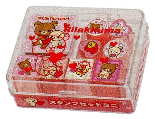 【新品】小物(キャラクター) 集合(ピンク) スタンプセットミニ Sサイズ 「リラックマ」