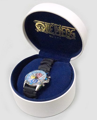 【中古】腕時計・懐中時計(キャラクター) 海軍 オフィシャルライセンス・クロノグラフ(ラバーバンド) 「ワンピース・プレミアムコレクション」