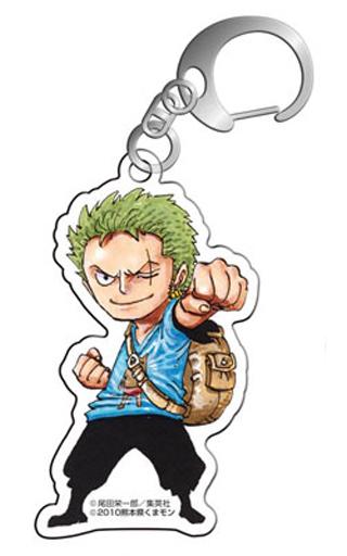 "Roronoa Zoro Acrylic Key Holder ""One Piece x Kumamon"""