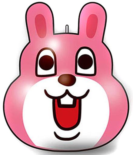 【予約】スクイーズ(キャラ系/キーホルダー) うさぎ ぷにぷにマスコット 「目が笑ってない着ぐるみたち」