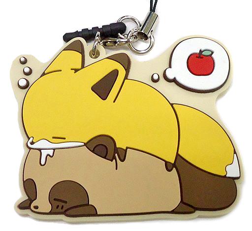【中古】ストラップ(キャラクター) タヌキ&キツネ(ゆめ) 「タヌキとキツネ トレーディングなかよしラバーストラップ」