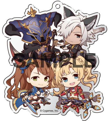 "Zeta & Beatrix & Bazaraga & Youth Stuffing Ponchin! Acrylic Ball Chain Collection ver. ""GRANBLUE FANTASY - Grand Blue Fantasy -"""