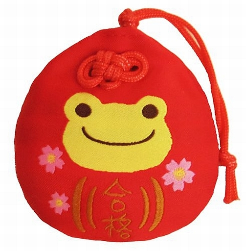 【中古】神社関連(キャラクター) 合格 だるまお守り 「pickles the frog-かえるのピクルス-」