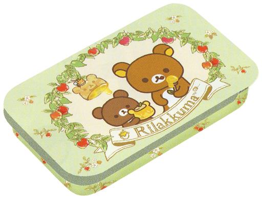 【新品】小物(キャラクター) リラックマ&チャイロイコグマ(グリーン) はちみつの森の収穫祭テーマ ミニ缶 「リラックマ」