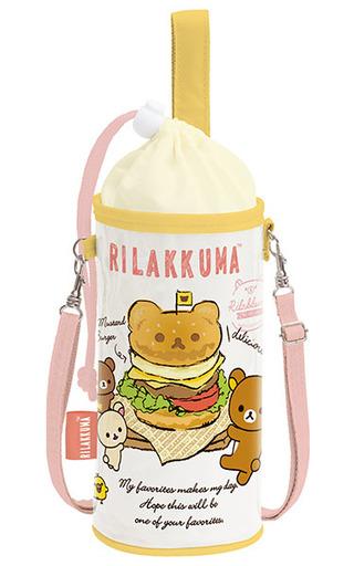 【中古】バッグ(キャラクター) 集合(ハンバーガー柄) ランチマーケット ペットボトルポーチ 「リラックマ」