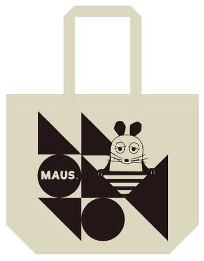 【新品】バッグ(キャラクター) マウス ラージトート ナチュラル 「Maus(TM)/マウス(TM)」