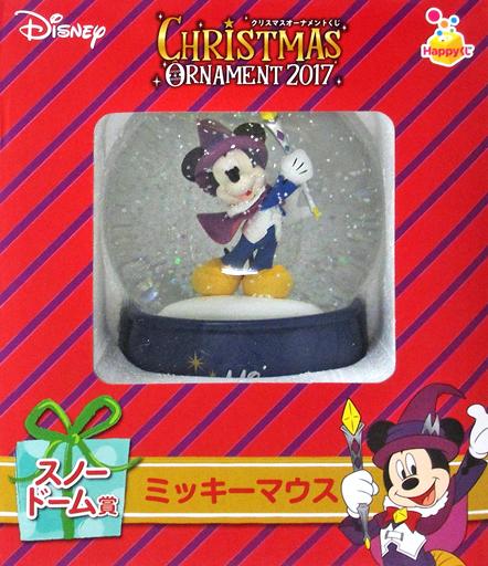 【中古】小物(キャラクター) ミッキーマウス スノードーム 「Happyくじ ディズニークリスマスオーナメント2017」 スノードーム賞