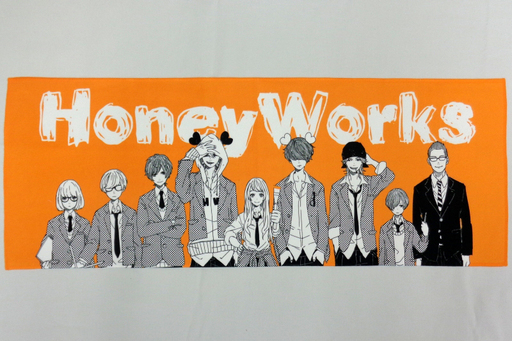 【中古】タオル・手ぬぐい(男性) HoneyWorks タオル(オレンジ) 「HoneyWorks POPUP SHOP」