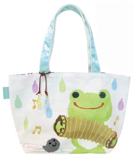 【予約】バッグ(キャラクター) ピクルス ミニトート Sounds of rainシリーズ 「pickles the frog-かえるのピクルス-」
