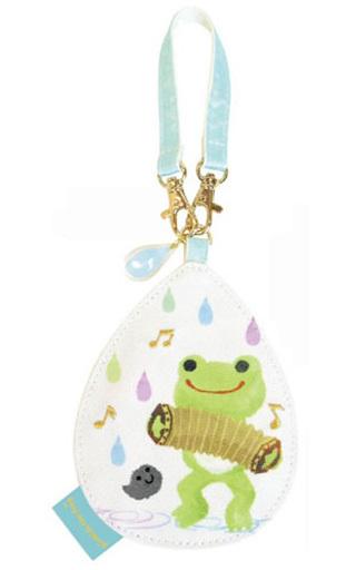 【予約】財布・パスケース(キャラクター) しずく パスケース Sounds of rainシリーズ 「pickles the frog-かえるのピクルス-」