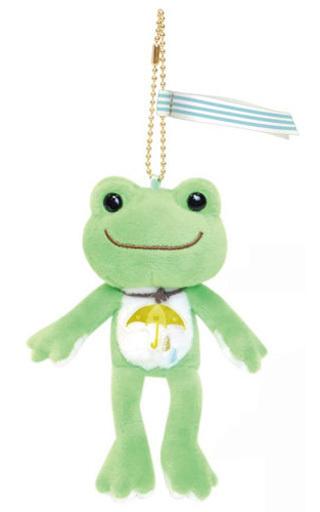 【新品】キーホルダー・マスコット(キャラクター) グリーン マスコット Sounds of rainシリーズ 「pickles the frog-かえるのピクルス-」