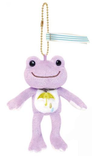 【予約】キーホルダー・マスコット(キャラクター) パープル マスコット Sounds of rainシリーズ 「pickles the frog-かえるのピクルス-」