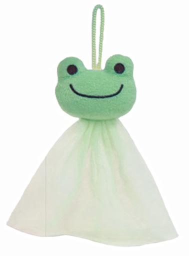 【予約】生活雑貨(キャラクター) ピクルス 泡立てネット バスタイムシリーズ 「pickles the frog-かえるのピクルス-」