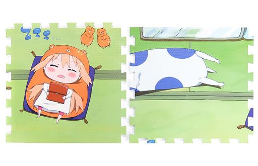 【中古】生活雑貨(キャラクター) 土間うまる&ネコロンブス(お腹) 描き下ろしジョイントマット(2枚セット) 「Blu-ray/DVD 干物妹!うまるちゃんR」 TOHO animation STORE 2巻連動購入特典