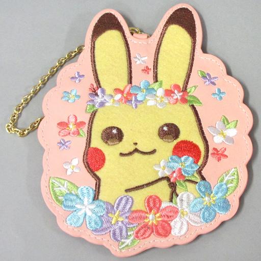 【中古】財布・パスケース(キャラクター) ピカチュウ パスケース Pikachu&Eievui's Easter 「ポケットモンスター」 ポケモンセンター限定