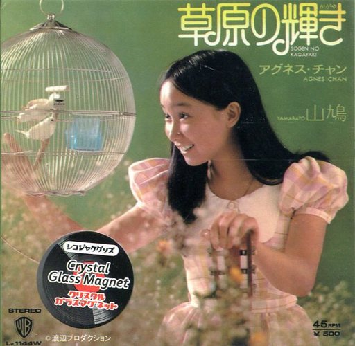 東京ミモレ 新品 小物(女性) アグネス・チャン(草原の輝き) レコジャケ クリスタルガラスマグネット